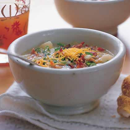 Baked Potato Soup With Bacon, Onion & Cheddar Recipe ...