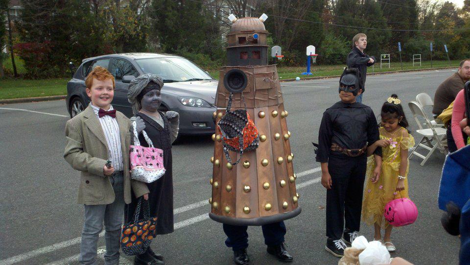 Making A Dalek Costume Dandelion Mama