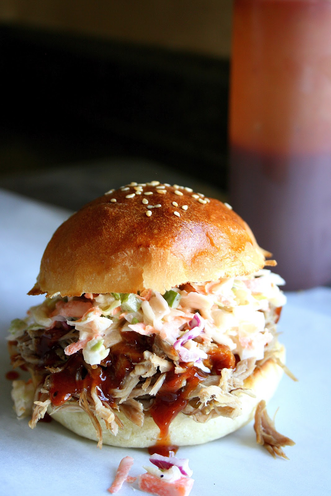 Pulled Pork Sandwiches With Coleslaw Recipe — Dishmaps